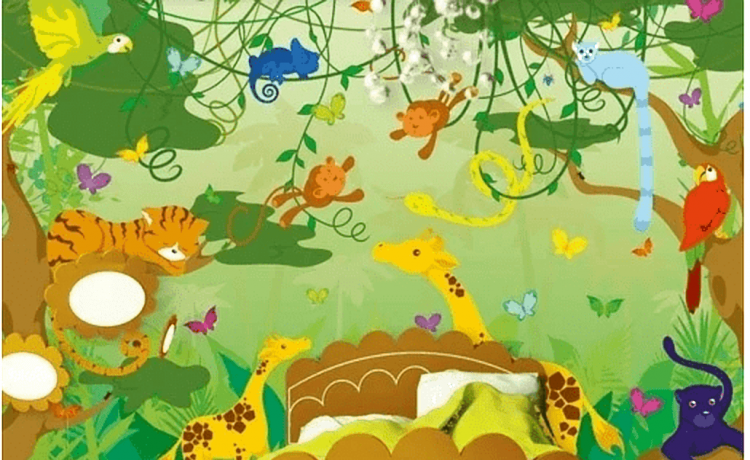 Behang Kinderkamer Jungle.Behang Voor De Kinderkamer Inspiratie Tips Ideeen