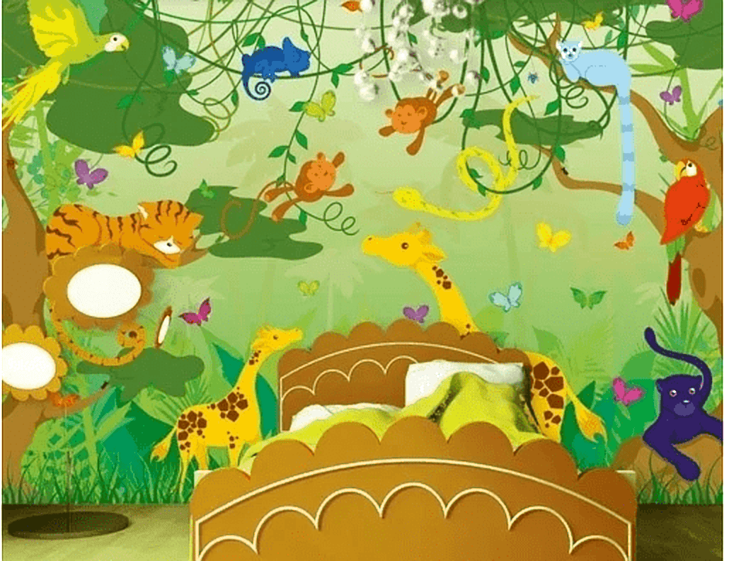 kinderkamer jungle behang