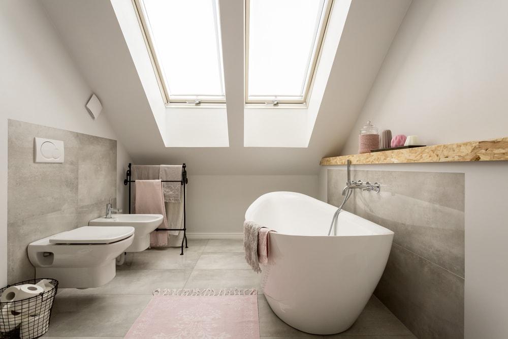 Lekkage in design badkamer